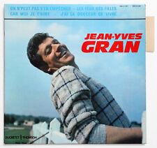 JEAN-YVES GRAN On n'peut pas french 1963 ducretet 460 V 557 EP +TAG languette