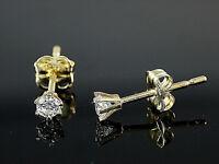 585 Gold Ohrstecker Brillant Fassung  3,3  mm 1 Paar mit Zirkonia Steinen