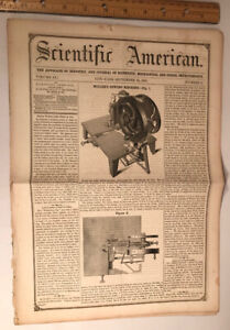 Scientific American, Sept. 24, 1853. Miller's Sewing Machine Cover