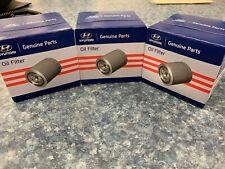 hyundai oem oil filters x3 26300-35505 genuine