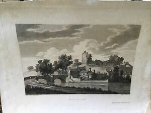 Original Old Antique Print. EGREMONT CASTLE, BY JOSEPH FARRINGTON Published 1815