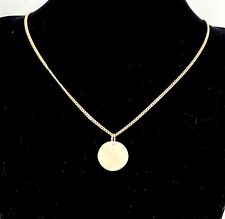 9ct 9k Yellow Gold 16mm Disc Pendant Engravable - Medical Alert (Pendant Only)