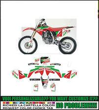 kit adesivi stickers compatibili crf 125 150 250 castrol team 2004 2008