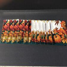 Fall Festival Fabric Napkins 100% Cotton NIP Set Of 12 #1995 Squash Corn Pumpkin