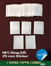 50x NTAG215 NFC Sticker Tag 25mm Works With TagMo Android Switch Amiibo