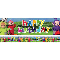 Teletubbies Boy/ Girl Birthday Party Supplies Tableware Decorations Foil Banner
