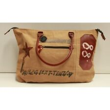 Canvas and Leather Unisex Tote Bag