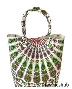 Wholesale Indian Mandala Handbag Women Shoulder Shopping Hippie Towel Bags Throw