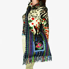 Vintage Hmong Thai Indian Ethnic hobo hippie messenger shoulder bag trim 083T