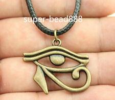 1pcs Antique Silver Rah Egypt Eye Of Horus Egyptian Charms Pendants Necklace