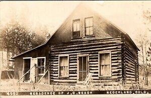 NEDERLAND COLORADO RESIDENCE OF J.O. BEACH OLD REAL PHOTO POSTCARD