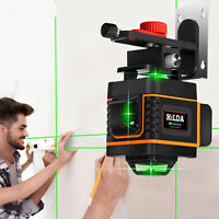 4D 16Lines Laser Level Grünes Licht Auto Self Leveling 360° Rotary Measure Cross