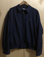 Polo Ralph Lauren Golf Jacket NAVY Plaid Lined Men's L Large [Pre-Owned]