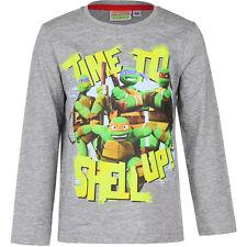 NUEVO Jersey Camiseta manga larga Niños Tortugas Ninja Gris Azul Rojo 98 104 116