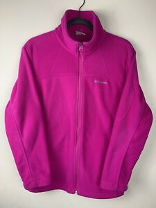 Columbia-Longsleeve Fleece Jacket-women's Size Large-Pink