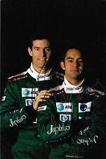 "Mark Webber & Antonio Pizzonia ""Jaguar"" Autogramme signed 20x30 cm Bild"