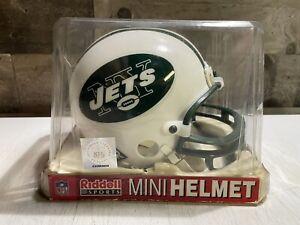 New York Jets 1965-1977 Throwback Football Mini Helmet Riddell NEW w/ Box L@@K!!