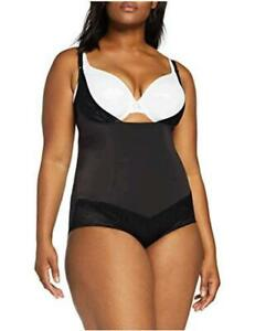 Flexees Women's Maidenform Shapewar Curvy Firm, Black, Size XXX-Large neSr