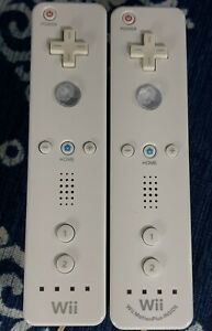 Nintendo Wii Motion Plus White Wiimote and OEM Wiimote For Parts Bundle