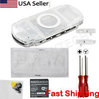 Transparent Clear Housing Shell Case Cover Kit Replacement for Sony PSP 1000
