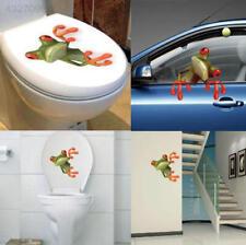Cute Frog Funny Car Toilet Wall Sticker Waterproof Decal Bathroom Decor
