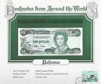 World Banknotes Bahamas 1984 1 Dollar P-43a UNC Prefix E Allen