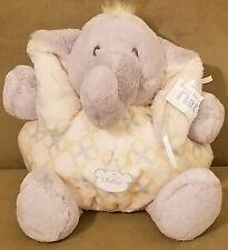 Nat & Jules Baby Bee Happy Tusk Plush Elephant Rattle Lovey Toy Demdaco