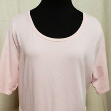 2eec494be0c8 Isaac Mizrahi Live! Womens Sz M T-Shirt Tulip Hem Pink Knit Tunic Short