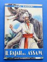 Libri Ragazzi - Il Rajah dell'Assam - Emilio Salgari - Ed. Carroccio - 1947