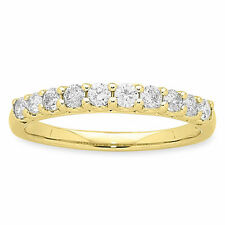 Eternity Yellow Gold Fine Diamond Rings