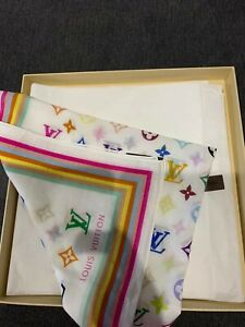 Louis Vuitton 100% Cotton scarf 100% authentic unwanted gift comes with box