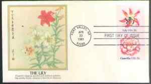 US. 1877-79. 18c. Camellia & Lily, Flower Issue. Fleetwood FDC. 1981