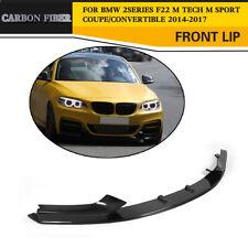 Carbon Front Bumper Chin Lip Spoiler Splitter For BMW F22 M235i M Tech M Sport
