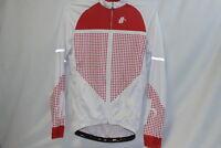 Hincapie LS Vantage Cycling Jersey Men's Medium Red White Long Sleeve NEW