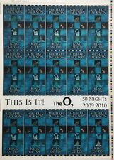 This Is It! Uncut 2009 Lenticular Concert Ticket Sheet Form 6,6A Michael Jackson