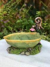 Miniature Dollhouse FAIRY GARDEN ~ Mini Resin Leaf Bathtub ~ NEW