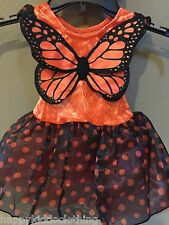 NWT Gymboree Monarch Butterfly dress wings Halloween Costume barrette size 12-18