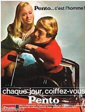 PUBLICITE ADVERTISING 105  1967  PENTO   coiffant pour homme