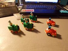 McDonald's HAPPY MEAL TOYS lot of 6 DISNEY PULL BACK RACERS MICKEY & DONALD