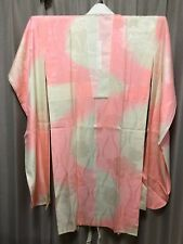 Japanese KIMONO FURISODE Silk Fabric Flower Dyed Vintage Kyoto Geisha Woman