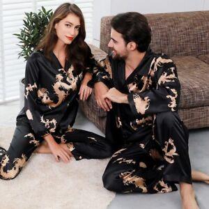 Mens Comfy Soft Silk Satin Night Robe Bathrobe Luxury Sleepwear Loungewear Ths01