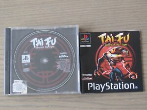 JEU PLAYSTATION PS1 T' AI FU WRATH OF THE TIGER