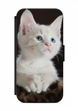Sony Xperia  Katze Cat Tier Flipcase Tasche Flip Hülle Case Cover Schutz Handy V