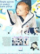 Publicité 1997  SUCRE D'ORGE pret à porter collection mode vetement bébé enfant
