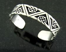 Geometric Design Cuff Bracelet New Ashling Aine Pewter Celtic