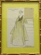 """Fab, Original Pierre Balmain Couture No.415 Versailles Couture Fashion Plate"""
