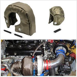 Vehicles T3 Titanium Turbo Blanket Heat Shield Turbocharger Cover Wrap Universal