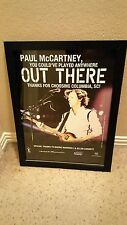Paul McCartney Rare Original Columbia, SC Out There Concert Promo Poster Framed!
