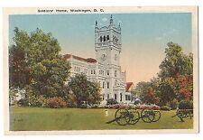 SOLDIERS' HOME Building Washington D.C. Postcard Vintage White Border Unused