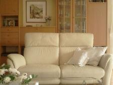 Zweisitzer-Echtledercouch und passender Sessel